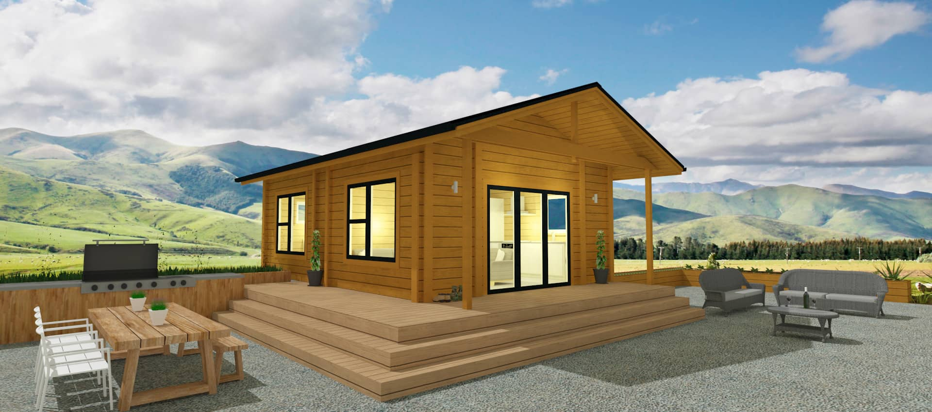 Granny flats chalets tiny homes of sustainably grown nz for Small sustainable house plans