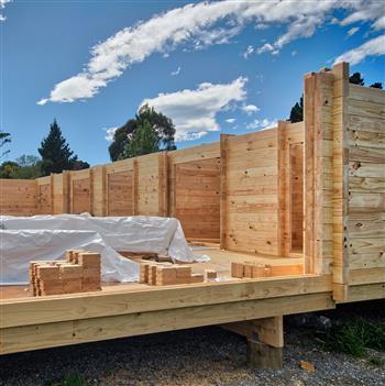 Pines Beach Community Hall, solid timber kitset